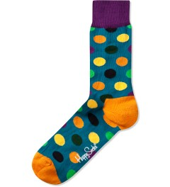 Happy Socks Turquoise/Multi Big Dot Sock Picutre