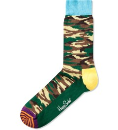 Happy Socks Camo/Green Camouflage Sock Picutre