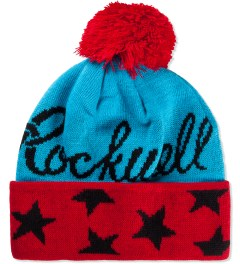 Rockwell by Parra Jacquard Knit Country Club Pom Pom Beanie Picutre