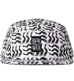 Rockwell by Parra Black On White Lots Of Legs Camp Hat  Picutre