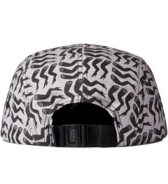 Rockwell by Parra Black On Dark Grey Lots Of Legs Camp Cap  Model Picutre