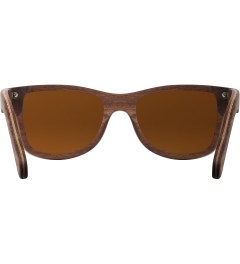 Shwood Oak Brown Polarized Canby Sunglasses Model Picutre