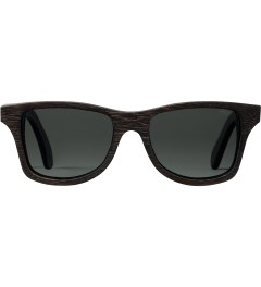 Shwood Dark Walnut Grey Polarized Canby Sunglasses Picutre