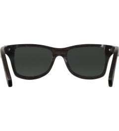 Shwood Dark Walnut Grey Polarized Canby Sunglasses Model Picutre