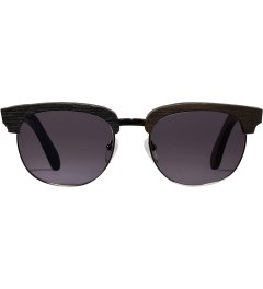 Shwood Dark Walnut Silver Grey Eugene Sunglasses Picutre