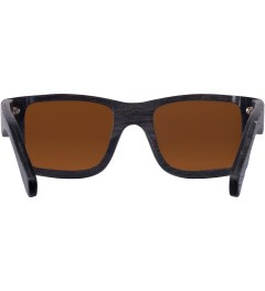 Shwood Dark Walnut Brown Polarized Haystack Sunglasses Model Picutre