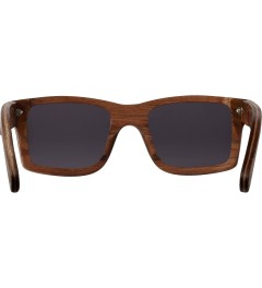 Shwood Walnut Grey Haystack Sunglasses Model Picutre