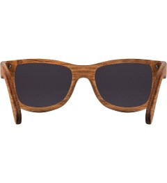 Shwood Grey Dark Walnut Canby Sunglasses Model Picutre
