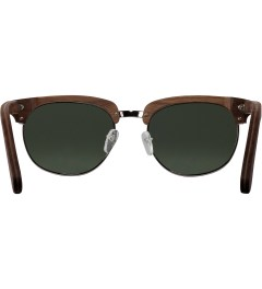 Shwood Walnut Silver G15 Polarized Eugene Sunglasses Model Picutre
