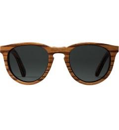 Shwood Zebrawood Grey Polarized Belmont Sunglasses Picutre