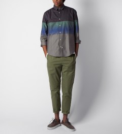 Sidian, Ersatz & Vanes Grey/Green/Blue COM03 Classic Pocket Shirt Model Picutre
