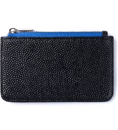 Stevin Gold Blue Stingray Cardholder Picutre