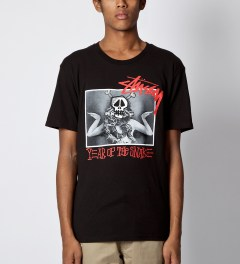 Stussy Black Snake Dancer T-Shirt Model Picutre