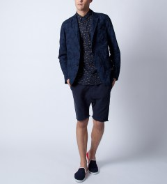 ZANEROBE Navy Big Cat S/S Shirt Model Picutre