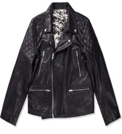 Tourne de Transmission Black Existence Leather Biker Jacket Picutre