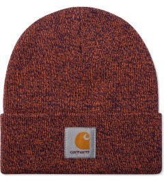 Carhartt WORK IN PROGRESS Blue/Carhartt Orange Scott Watch Cap Model Picutre