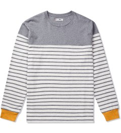 CASH CA Oatmeal Panel Border L/S T-Shirt Picutre