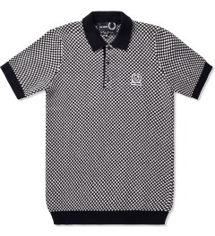 Raf Simons x Fred Perry Black Knitted Checkerboard FP Shirt  Picutre