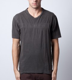 JohnUNDERCOVER Charcoal JUL4809 T-Shirt Model Picutre