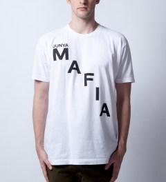 Junya Mafia White Cease T-Shirt Model Picutre