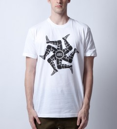 Junya Mafia White Capone T-Shirt Model Picutre