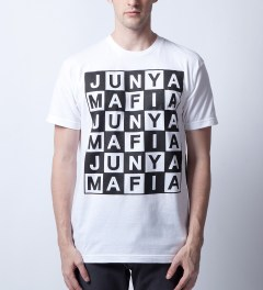 Junya Mafia White Louis T-Shirt Model Picutre