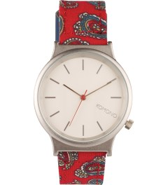 KOMONO Red Paisley Wizard Print Series Watch  Picutre