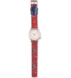 KOMONO Red Paisley Wizard Print Series Watch  Model Picutre
