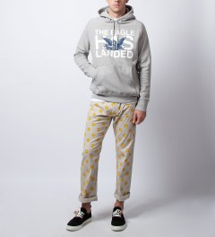 Mark McNairy Heather Grey Eagle Hoodie Model Picutre