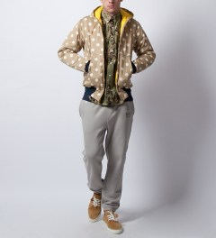 Mark McNairy Khaki Dot Quilted Zip Hooded Jacket Model Picutre