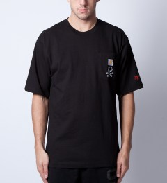 SSUR SSUR x Cahartt Black Controlled Substance T-Shirt  Model Picutre