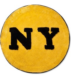 SECOND LAB Mustard NY Circle Rug  Picutre