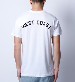 Stampd White West Coast T-Shirt Model Picutre