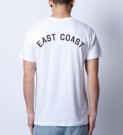 Stampd White East Coast T-Shirt Model Picutre