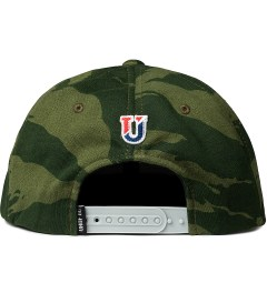 Undefeated Olive Combat Fleece Snapback Ballcap  Model Picutre