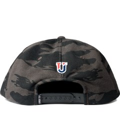 Undefeated Black Combat Fleece Snapback Ballcap  Model Picutre