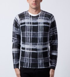 Surface to Air Black/White Orion Timber Knitwear  Model Picutre