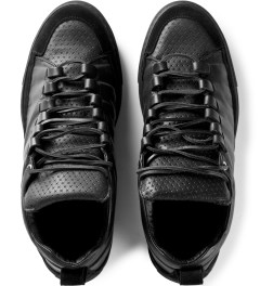Damir Doma Black Fune Low Layered Sneakers Model Picutre