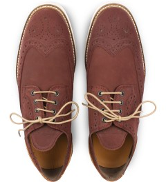 Filling Pieces Burgundy Wingtip Broque Shoe Model Picutre