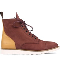 Filling Pieces Burgundy Full Grain Leather Oxford Boot Picutre