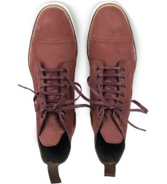 Filling Pieces Burgundy Full Grain Leather Oxford Boot Model Picutre