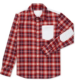 HSTRY x Grungy Gentleman Red/White Flannel Shirt  Picutre