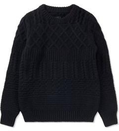 KRISVANASSCHE Black Multilayered Roundneck Sweater  Picutre