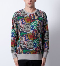 Lazy Oaf Mascot Logo Sweater  Model Picutre
