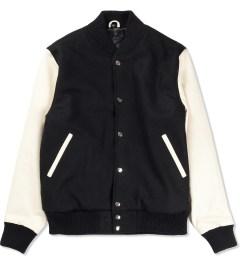 MKI BLACK Black/Off White Classic Varsity Jacket Picutre