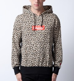 Mark McNairy for Heather Grey Wall Leopard Inferior Parka Hoodie Model Picutre