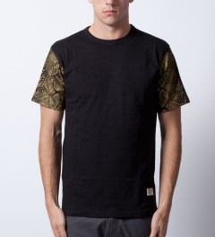 Mister Black/Gold Mr. Metallic Snake T-Shirt  Model Picutre
