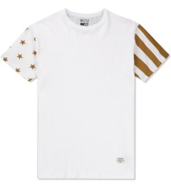 Mister White/Gold Mr.Metallic USA T-Shirt  Picutre