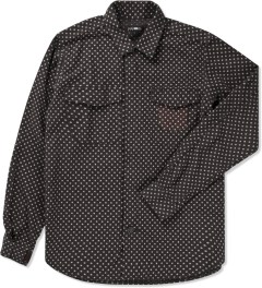 CASH CA Black Dot Zip Shirt Picutre