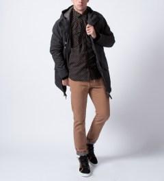 CASH CA Black Dot Zip Shirt Model Picutre